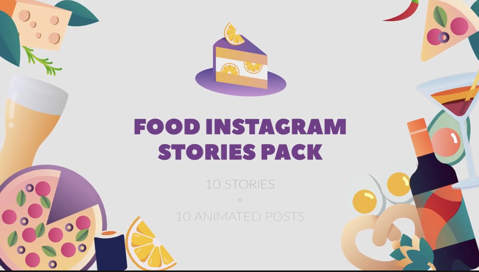 Food Stories And Posts Pack